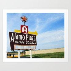 Alamo Plaza Hotel Courts Art Print