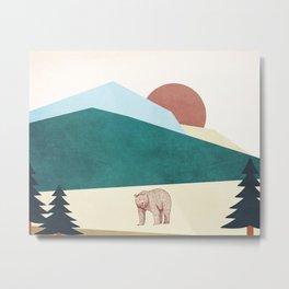 Roar Bear Metal Print