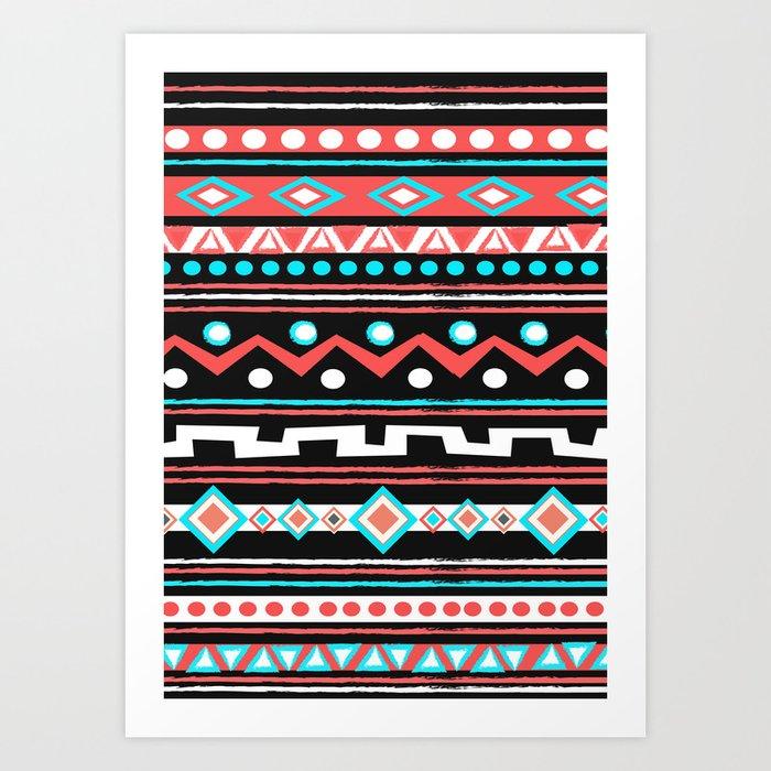 BLACK TIPI Art Print
