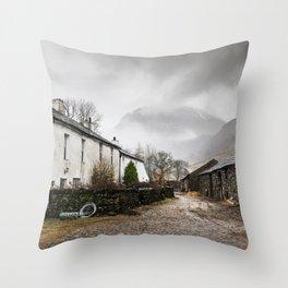 Still Raining in Seathwaite Throw Pillow