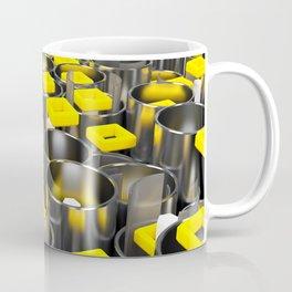 Metal tubes, hexagons and glass Coffee Mug