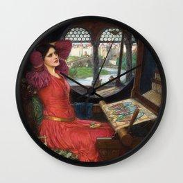 "John William Waterhouse - ""I am half sick of shadows"" said the Lady of Shalott Wall Clock"