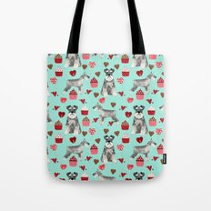 Schnauzer valentines day pet portrait dog breed custom dog art perfect for dog lover Tote Bag