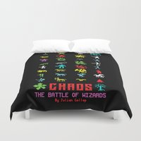 chaos Duvet Covers featuring Chaos by Slippytee Clothing