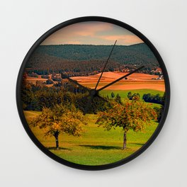 Two rival trees Wall Clock