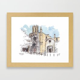 Aix Cathedral (St. Sauveur) Framed Art Print