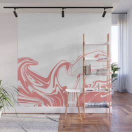 Color drop in water in motion. Ink swirling.  Wall Mural