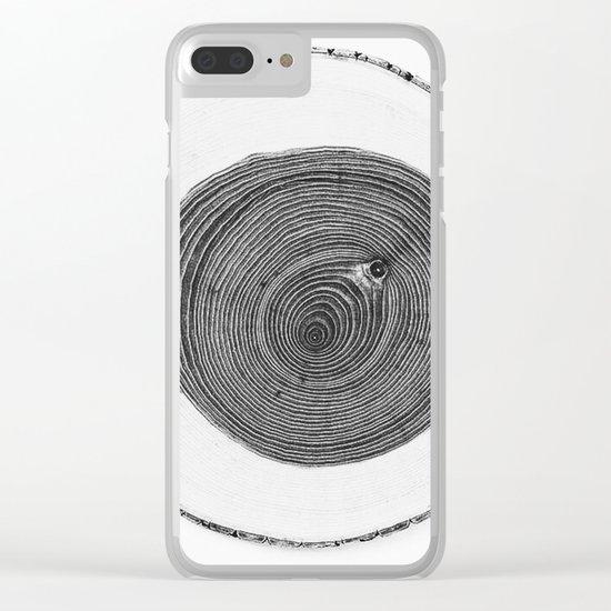 Cut wood -Scandinavian art Clear iPhone Case