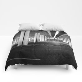 driving you crazy, urban view, city drive in warsaw, poland Comforters