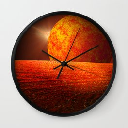 Scorched Earth Wall Clock