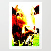 Pop Art Cow Art Print