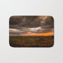 West Texas Sunset - Colorful Landscape After Storms Bath Mat