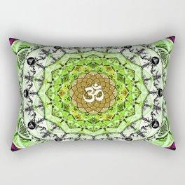 GREEN OM MANDALA Rectangular Pillow