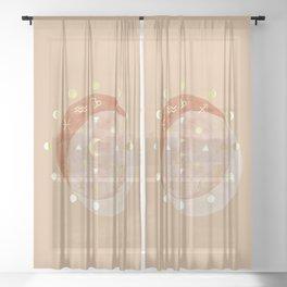Zodiac Wheel Moon Sheer Curtain