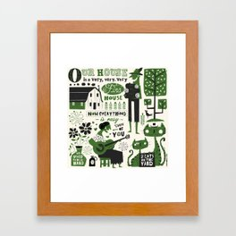 Our House Framed Art Print