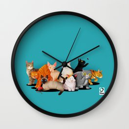 Gatos / Cats Wall Clock