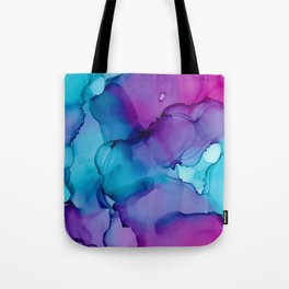 Alcohol Ink - Wild Plum & Teal Tote Bag