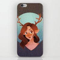 fawn iPhone & iPod Skins featuring Fawn by Lauren Draghetti