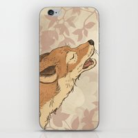 rabbit iPhone & iPod Skins featuring Fox and rabbit by Laura Graves