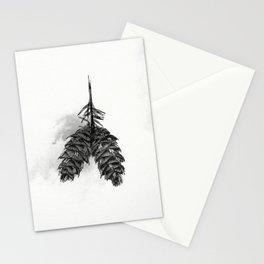 Pine Cone Ink Study Stationery Cards