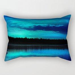 Brilliant Blue Rectangular Pillow