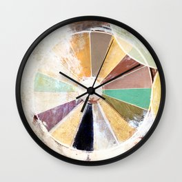 Abstract Color Wheel Painting Wall Clock