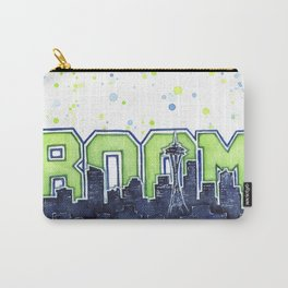 Seattle Legion of Boom Space Needle Skyline Watercolor Carry-All Pouch