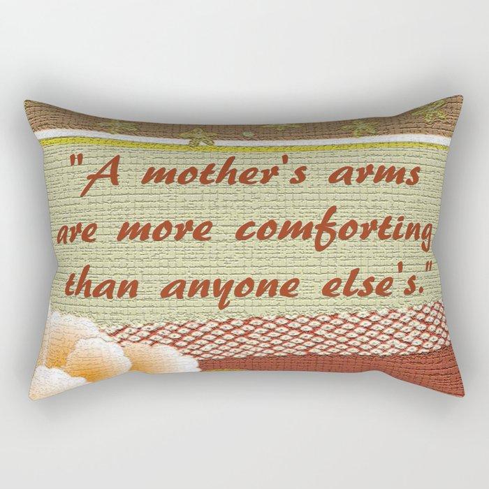 A Mother's Arms Rectangular Pillow