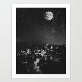 Magical Mostar Art Print