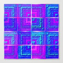 Checkered ultraviolet Canvas Print