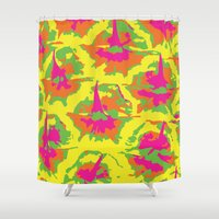 preppy Shower Curtains featuring Preppy Pineapple by Kristin Seymour