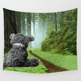 Teddy Bear Left Behind Wall Tapestry