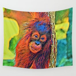 AnimalColor_OrangUtan_001_by_JAMColors Wall Tapestry