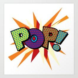 Comic Book Pop Art Sans POP! Art Print