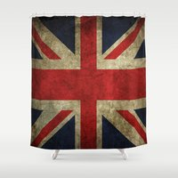 union jack Shower Curtains featuring Union Jack by Bethan Eastwood