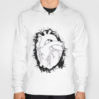 anatomical heart Hoodies featuring Anatomical Heart by JodiYoung