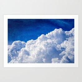 White Cumulus Clouds In The Blue Sky Art Print