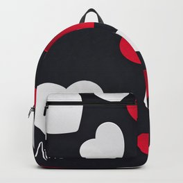 Valentine Hearts Background Backpack