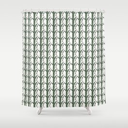 Green And Brown Chinese Praying Mantises On Green Leaves Shower Curtain