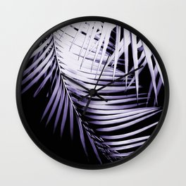 Palm Leaves Ultra Violet Vibes #3 #tropical #decor #art #society6 Wall Clock