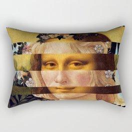 Leonardo's Mona Lisa & Botticelli's Flora Rectangular Pillow