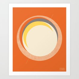Spheres (Orange) by Matthew Korbel-Bowers for Covell & Company Art Print