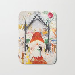 The Cathedrals of Fifth Avenue by Florine Stettheimer, 1931 Bath Mat