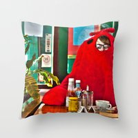 lobster Throw Pillows featuring Lobster by Suzi Corker