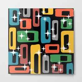 Retro Mid Century Modern Abstract Pattern 244 Metal Print