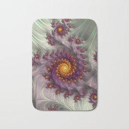 Saffron Frosting - Fractal Art Bath Mat