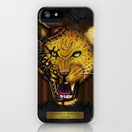 Mechanical Monsters revisited: Leopard  iPhone Case