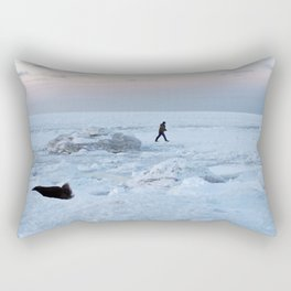 Out on the Ice Rectangular Pillow