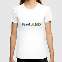 finland T-shirts featuring Finland by Valeria Marelli