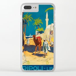 Vintage poster - Tripoli Clear iPhone Case